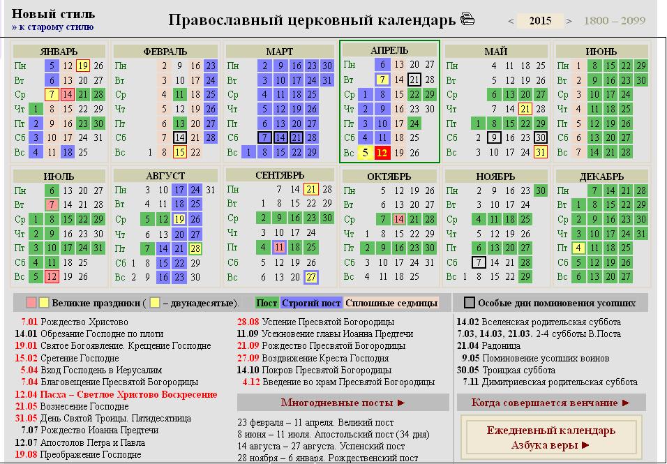 чтобы этом календарь православных праздников 2016 украина думаю все помнят